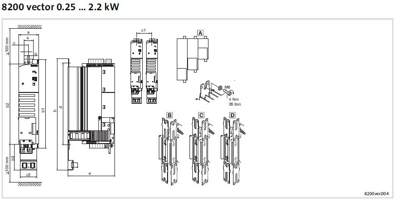 e82dv113k4c 8200 vector inverter drives by lenze mro drives rh mrodrives com lenze inverter wiring diagram lenze inverter wiring diagram